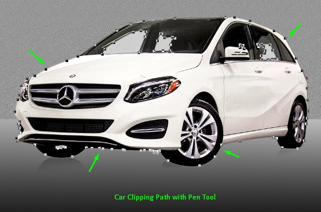 Car clipping path with pen tool