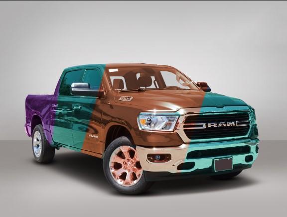 Color variation on car, car color correction