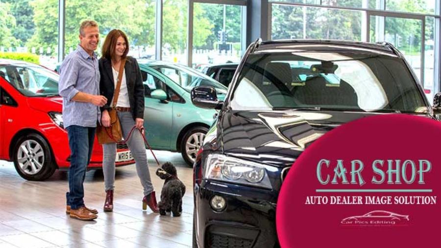 Car shop image editing service