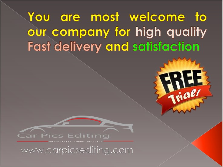 Free Trial | car photo editing