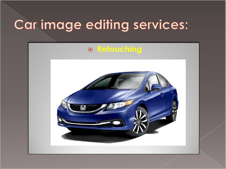 Retouching | car photo editing
