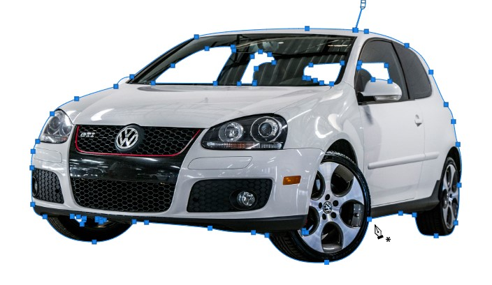 Car Clipping Path for background removal