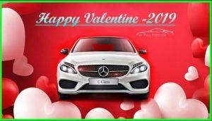 Valentine car image editing service
