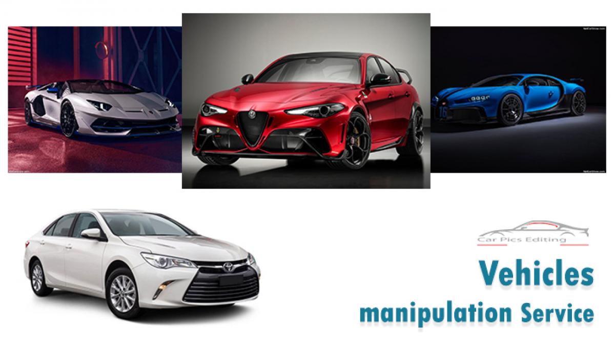 Car manipulation service- car pics editing