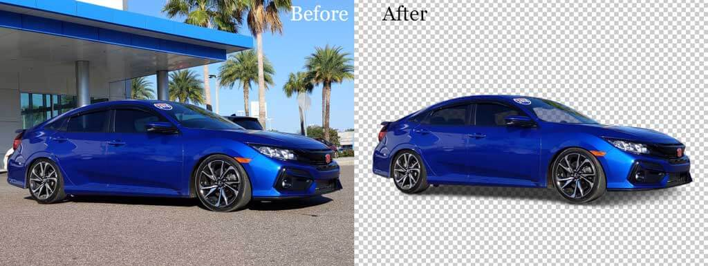 Automotive background replacement