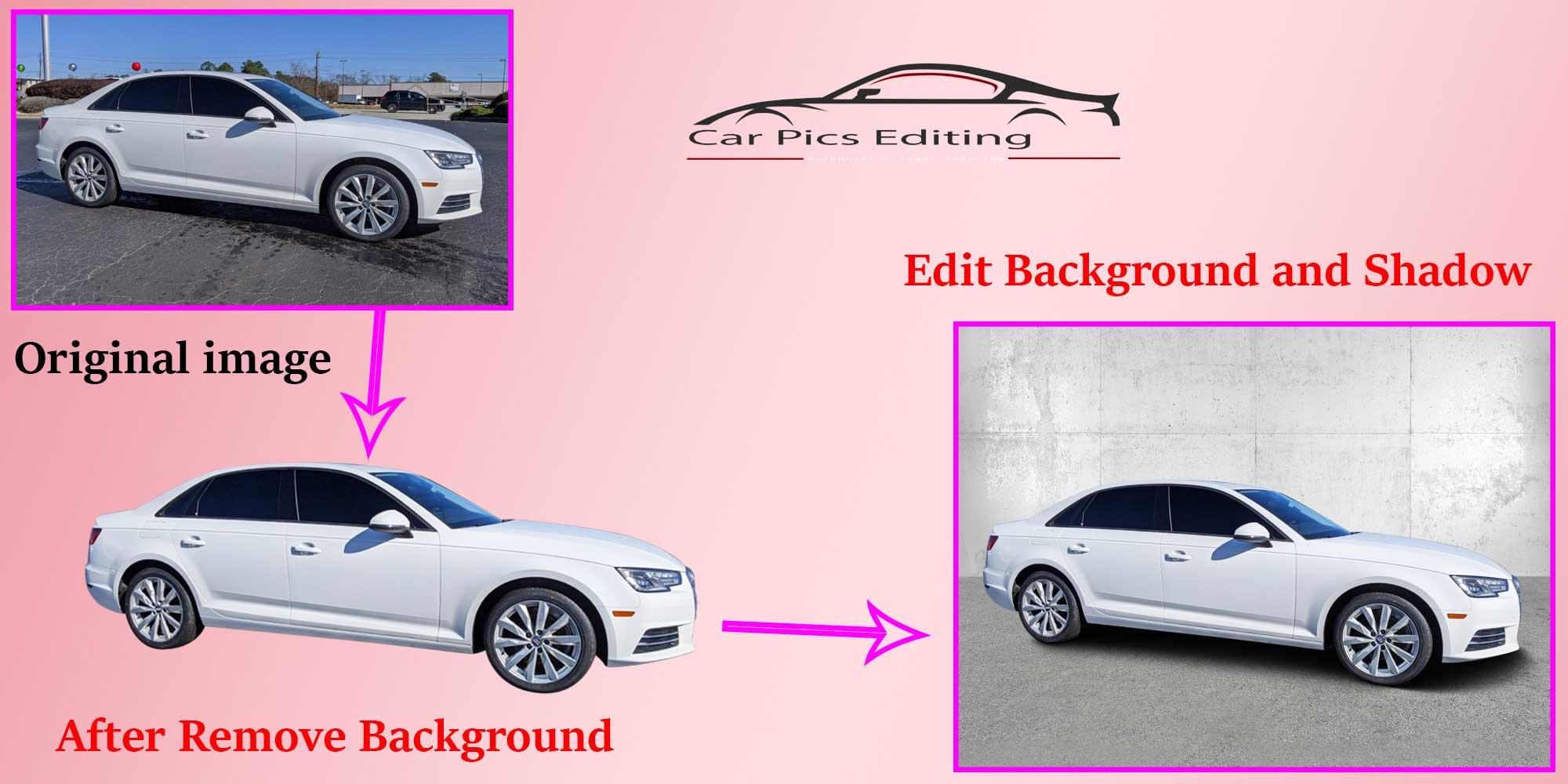 Car image editing process