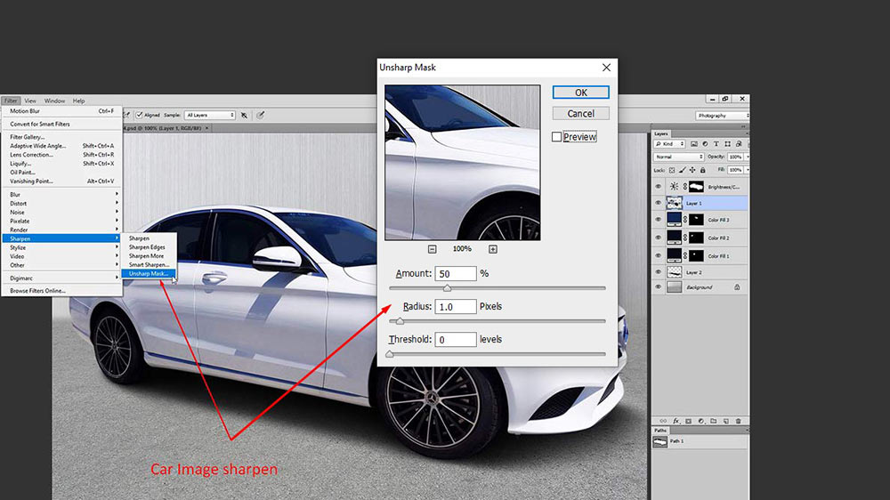 How To Edit Your Own Car Photo In Photoshop