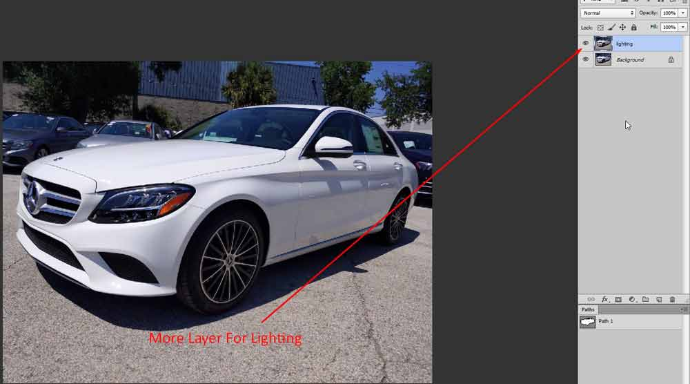 How To Editing Automobile Dealership Business Photo