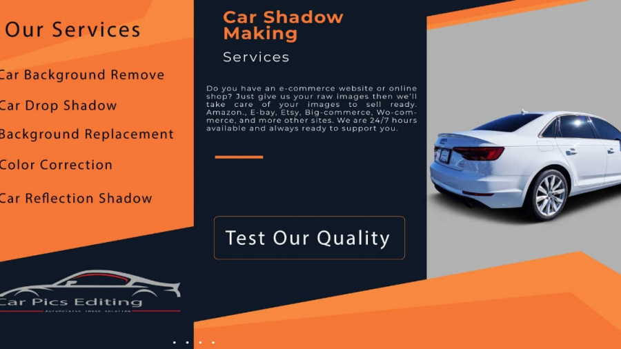Car transparent background, car shadow service, automotive photo editing 3
