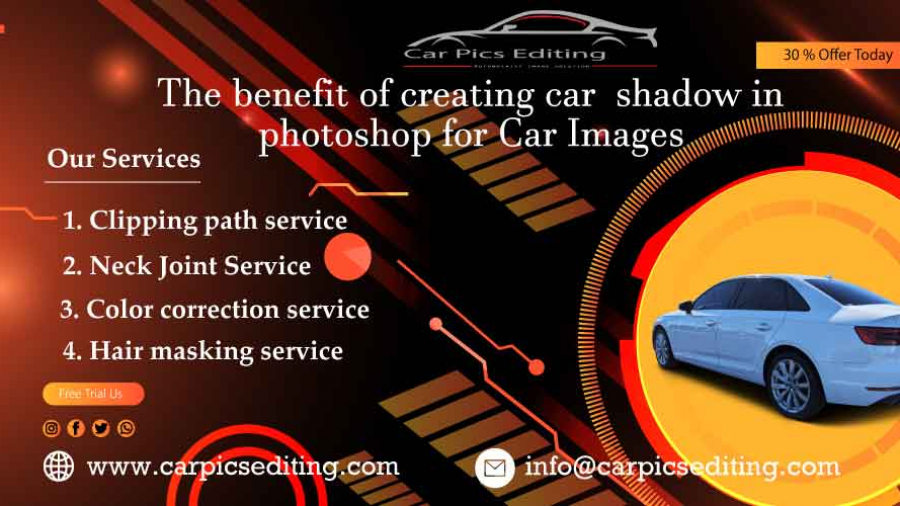 The benefit of creating car shadow in Photoshop for Car Images