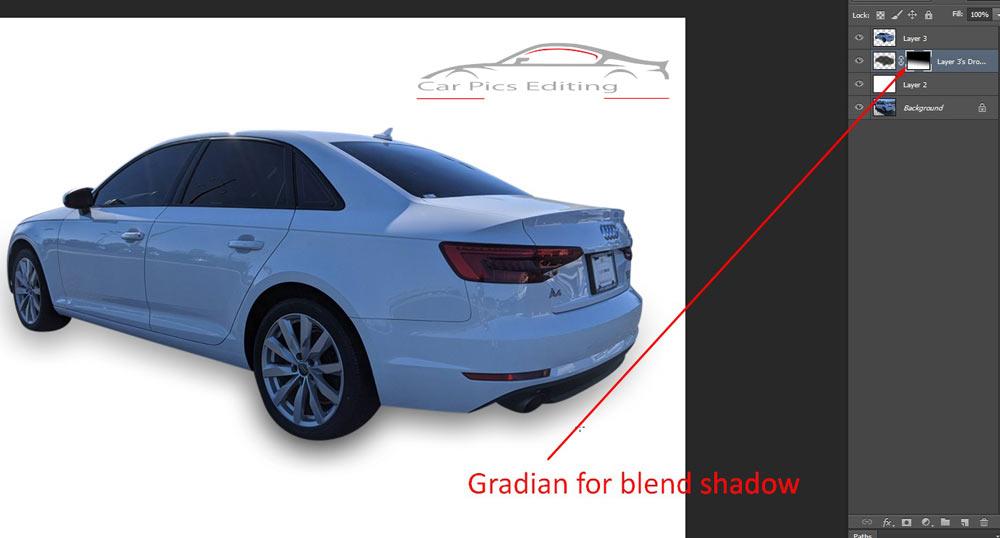 car shadow in Photoshop