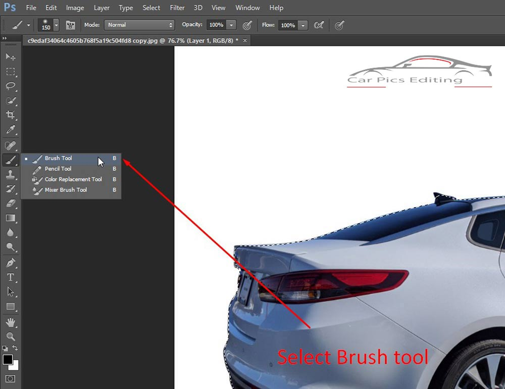 Ecommerce car photo editing