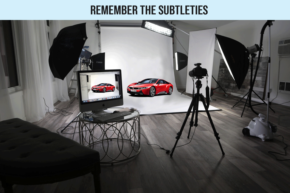Remember-the-subtleties- Professional Car Photography