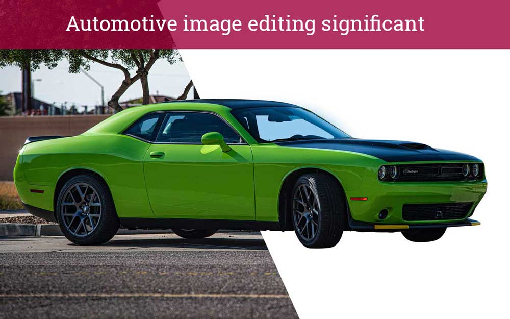 Why are automotive image editing significant for auto seller advertisements