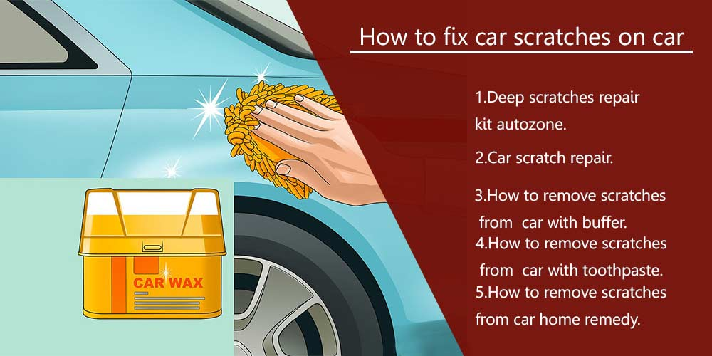 How to fix car scratches on car- Fixing deep scratches on car