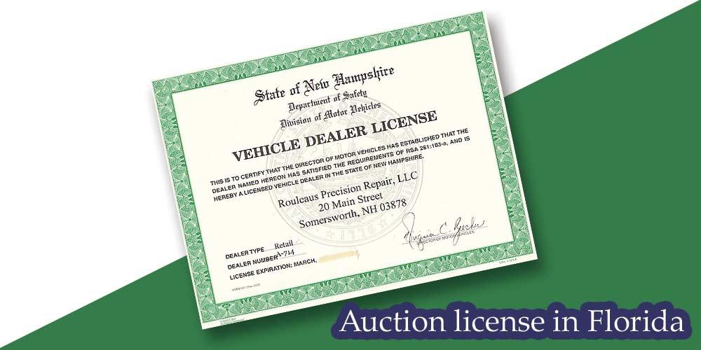 Vehicle dealer license
